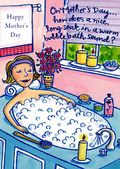 Mother's Day Card-Mum Relaxing Card